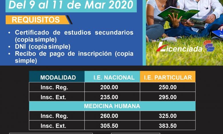 Photo of Vence plazo extemporáneo para matrícula del proceso de admisión 2020-I