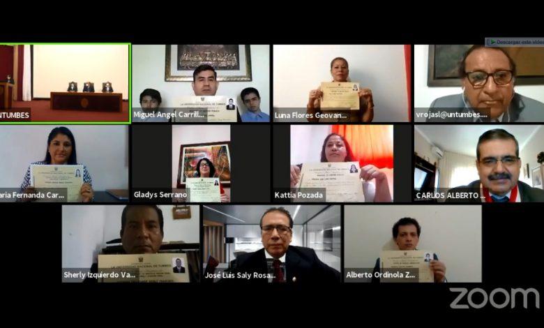 Photo of UNTUMBES desarrolla graduación virtual de posgrado