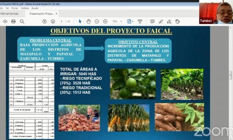"""Photo of UNTUMBES desarrolla foro virtual """"Proyecto de irrigación Faical, una oportunidad para el desarrollo de Zarumilla"""""""